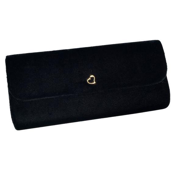 Victoria's Secret Handbags - ♛5/$25♛ NWOT Victoria's Secret Black Velvet Clutch